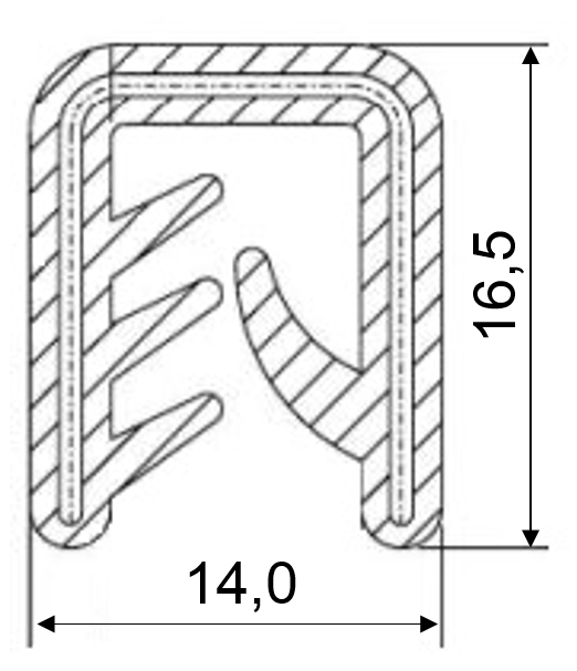 Edge protector and sealing profiles according EN 45545-2