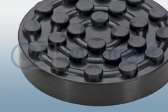 Moulded rubber parts (mounting plate for lifting platform)