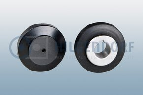 Rubber-to-metal-friction-wheels