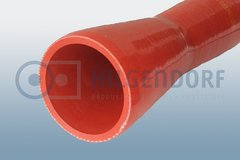 Exhaust adapter, mandrel built (red coloured)